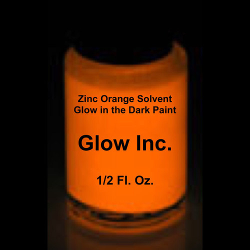 orange zinc solvent based glow in the dark paint glow inc. Black Bedroom Furniture Sets. Home Design Ideas