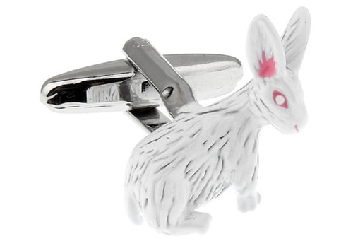 Easter bunny cufflinks albino bunny rabbit cufflinks with white rabbit easter bunny cufflinks albino bunny rabbit cuff link close up image negle Image collections