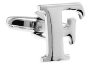 Alphabet Letter F Cufflinks close up image