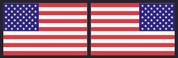 American Flag Sticker Set - Color