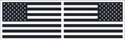 American Flag Sticker Set - Black & White