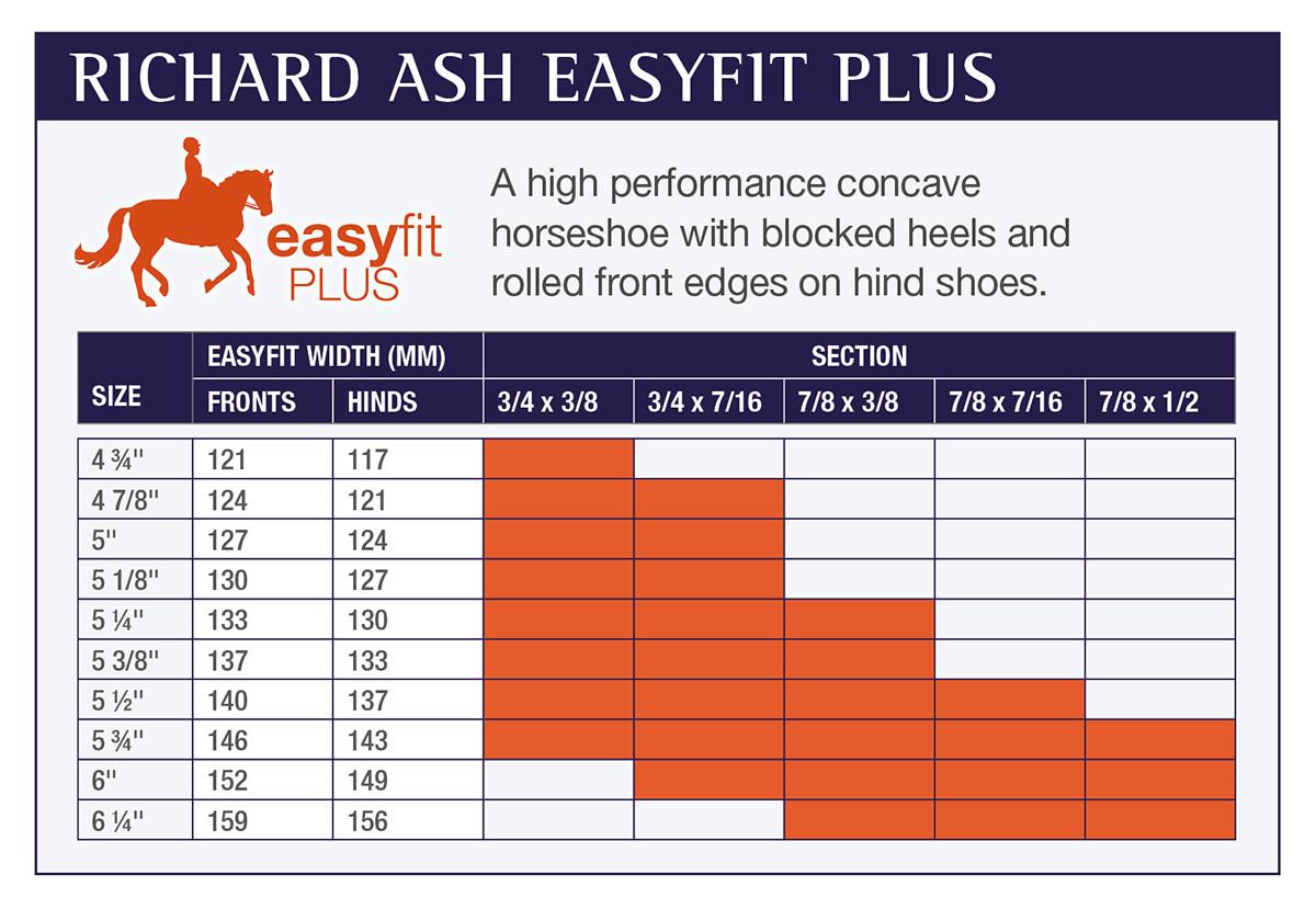 Horseshoe size guide