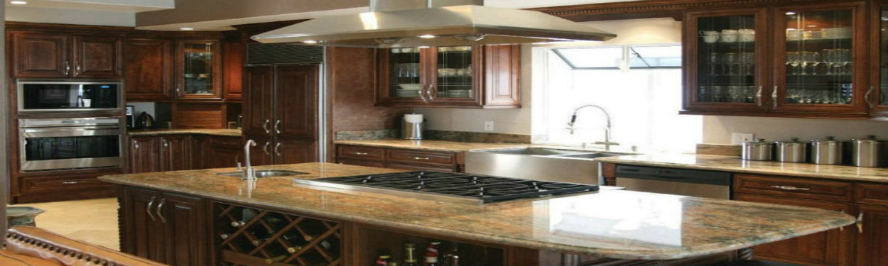 J&K Chocolate Maple Glaze Cabinets