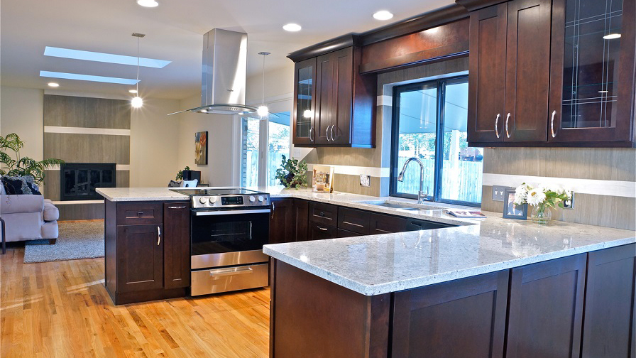 J And K Kitchen Cabinets. S1sampledoor Craftsman Java Maple Cabinets ...