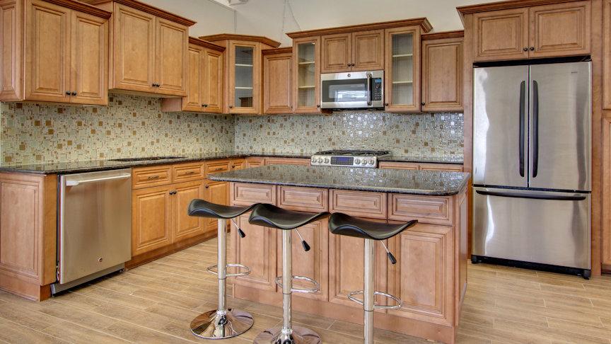 Ju0026K Cinnamon Maple Glaze Cabinets