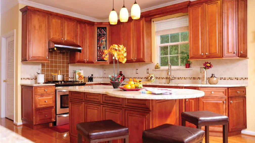 J&K Mocha Maple Glaze Kitchen Cabinets