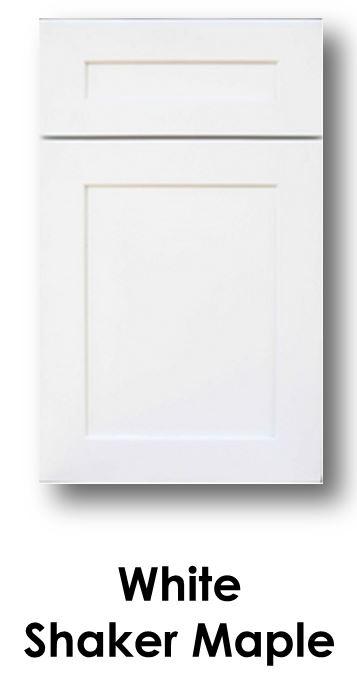 J&K White Shaker Maple Door
