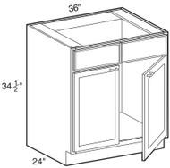 "Soda  Sink Base Cabinet 36"" W x 34 1/2"" H x 24"" D"