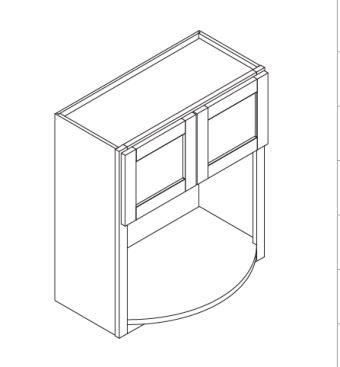 "Gregi Maple Microwave Cabinet   30""W x 12""D x 42""H  WBL3042"