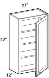 "Black Coffee Maple Wall Cabinet   21""W x 12""D x 42""H  W2142"