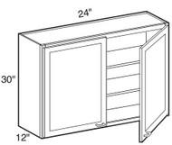 "Black Coffee Maple Wall Cabinet   24""W x 12""D x 30""H  W2430"