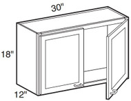 "Espresso Maple Wall Cabinet   30""W x 12""D x 18""H  W3018"