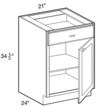 "Chocolate Maple Glaze Base Cabinet   21""W x 24""D x 34 1/2""H  B21"