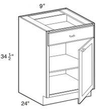 """Creme Maple Glaze Base Cabinet   9""""W x 24""""D x 34 1/2""""H  B09"""