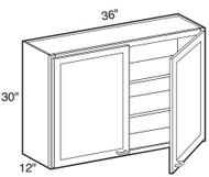 "Pearl Maple Glaze Wall Cabinet   36""W x 12""D x 30""H  W3630"