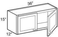 "Pearl Maple Glaze Wall Cabinet   36""W x 12""D x 15""H  W3615"