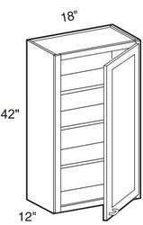"Pearl Maple Glaze Wall Cabinet   18""W x 12""D x 42""H  W1842"