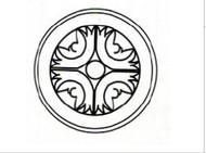 "White Shaker Maple   Round Ornament 6""W x 3/4""D x 6""H"