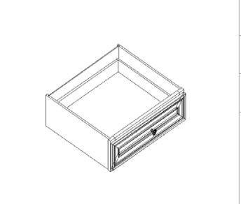"Newport  Knee Drawer   24""W x 21""D x 6""H"