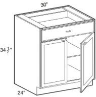 """Ebony Shaker  Base Cabinet   30""""W x 24""""D x 34 1/2""""H  B30"""