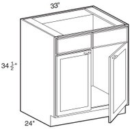 """Ebony Shaker  Sink Base Cabinet   33""""W x 24""""D x 34 1/2""""H  SB33"""