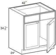 """Ebony Shaker  Sink Base Cabinet   42""""W x 24""""D x 34 1/2""""H  SB42"""