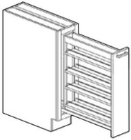 """Perla Spice Pull Out Cabinet   12""""W x 24""""D x 34 1/2""""H  BSR12"""