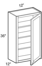 """Ebony Shaker  Wall Cabinet   12""""W x 12""""D x 36""""H  W1236"""