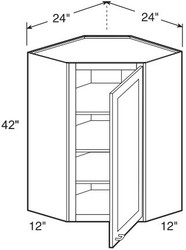 "Charlton   Wall Diagonal Corner Cabinet   24""W x 12""D x 42""H  WDC2442"