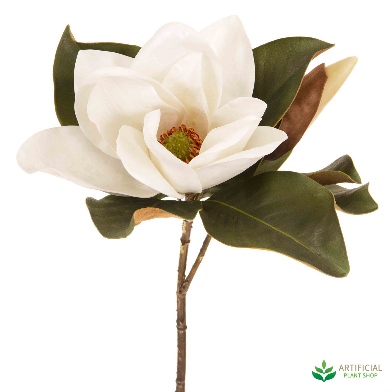 White magnolia flower 72cm white magnolia flower 72cm pack of 6 mightylinksfo Images