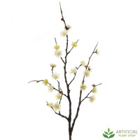 Cream Plum Blossom Spray 85cm (pack of 6)