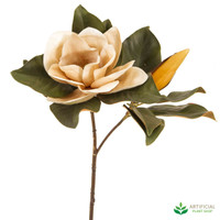 Coffee Magnolia Flower 72cm (pack of 6)