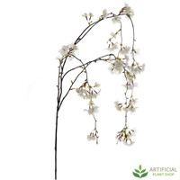 White Cherry Blossom Hanging Spray 130cm (pack of 6)