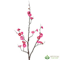Dark Pink Plum Blossom Spray 85cm (pack of 6)