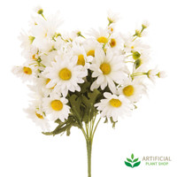 White Daisy Bush Bouquet 35cm (pack of 6)