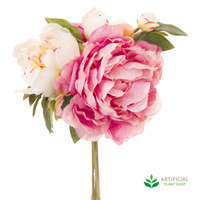 Light Pink Peony Bouquet 30cm (pack of 6)