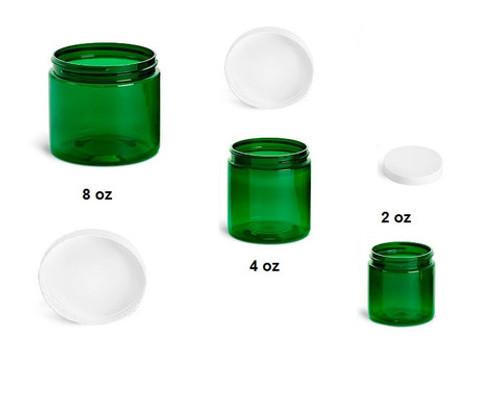 4 oz Green Jars with Cap