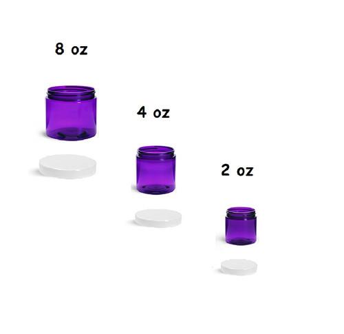 8 oz Purple Jars with Cap