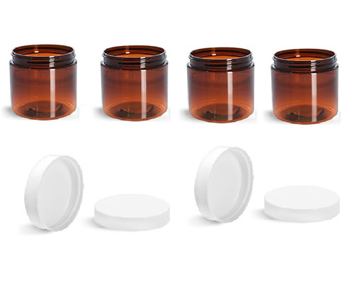 8 oz Amber Jars with Cap