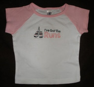 Runner Baby T-shirt - Baby Blue or Pink
