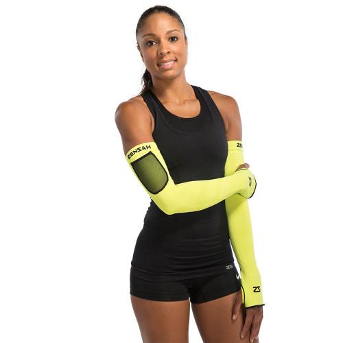 Zensah Limitless Arm Warmers - Neon Yellow