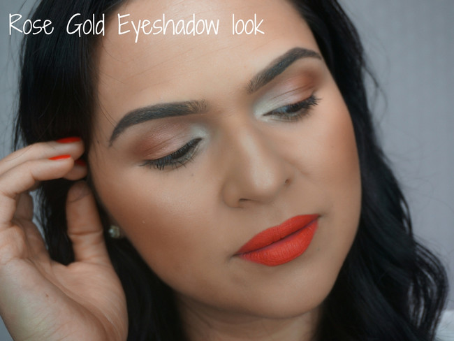HOW TO: Rose Gold eyeshadow look