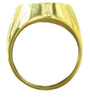 Style #607-8, 14k Gold, AA Symbol Mens Signet Style Ring with 6-25pt. Diamonds in the center of the Triangle
