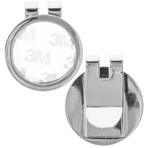 Money Clip Medallion Holder Silver Shiny Finish. Ka3