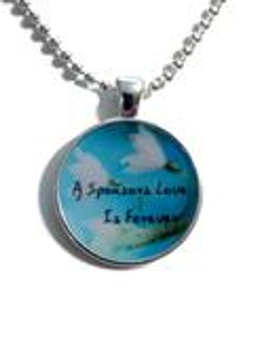 A Sponsors Love Is Forever Recovery Necklace - Blue