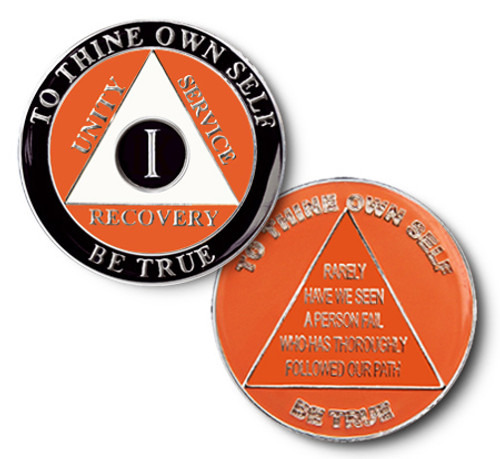 Alcoholics Anonymous sobriety date anniversary coin