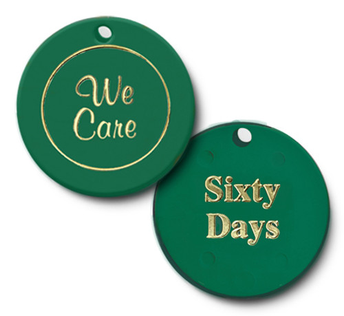we care, sixty days, clean and sober plastic chip