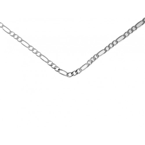"""Style #499-14, $50, 24"""" Medium Figaro Chain, Sterling Silver"""