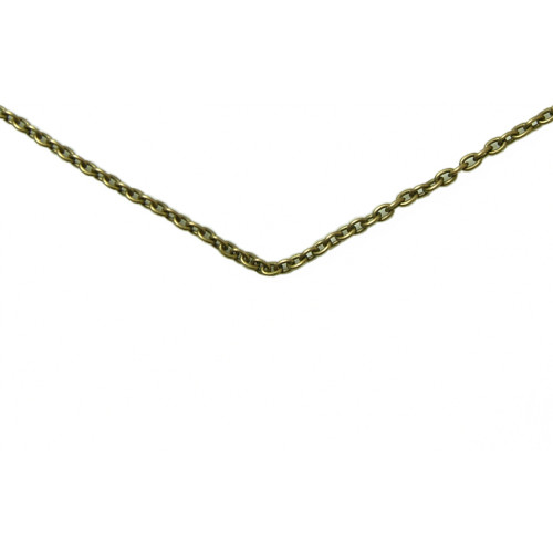"""Brass link chain 24"""". Perfect with your new aa or na skull!"""