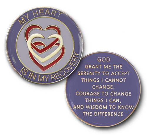 My Heart Is In My Recovery Specialty Tri-Plate Medallion